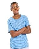 十几岁的男孩少年生气勃勃快乐的概念 免版税库存图片