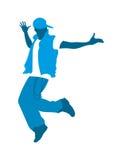 十几岁的男孩跳舞 免版税库存图片