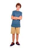 十几岁的男孩 免版税图库摄影