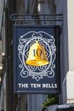 十响铃客栈在伦敦 免版税库存照片