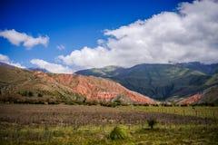 十四个颜色的山脉,塔夫拉达・德乌玛瓦卡 免版税库存照片