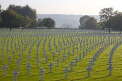 十字架和大卫王之星,美国公墓,比利时 免版税库存图片