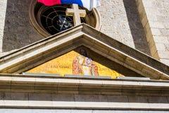十字架和象 免版税库存照片