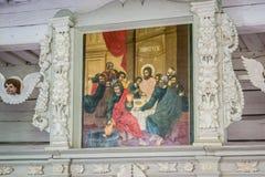 十字架和象 库存图片