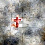 十字架和难题概念 库存图片