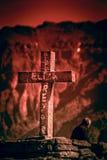 十字架在科尔卡峡谷 免版税库存照片