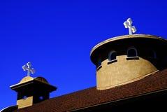 十字架教会尖顶 免版税库存图片