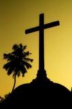 十字架的剪影 免版税库存图片