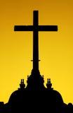 十字架的剪影 库存图片