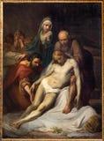十字架的布鲁塞尔- Depositioin吉恩巴帝斯特在Notre Dame de la Chapelle的van Eycken (1809 - 1853) 免版税库存图片