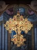 十字架的耶稣在圣Petronio,波隆纳大教堂  免版税库存照片