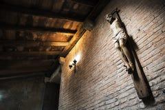十字架的耶稣基督没有胳膊 免版税库存图片