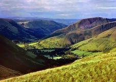 十字架的通行证, (Bwlch y Groes)北部威尔士 免版税库存照片