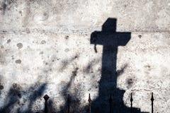 十字架的阴影 库存图片