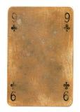 十字架老纸牌使用了纸背景 图库摄影