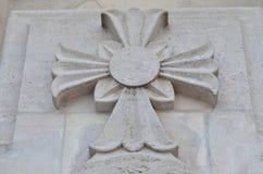 十字架雕象 库存图片