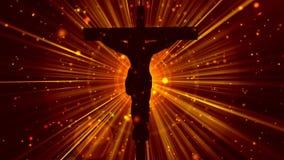 十字架崇拜18 Loopable背景的基督 库存例证