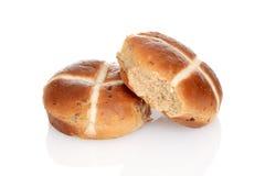 十字面包用葡萄干 免版税库存图片