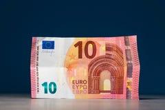 十欧元手中 免版税图库摄影