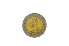 十泰铢硬币 库存照片