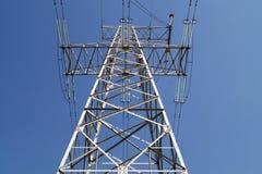110千伏输电线传输定向塔 库存图片