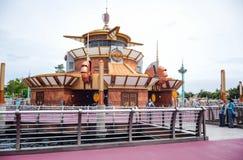 千叶,日本-, 2016年:在东京位于浦安的Disneysea端起发现地区,千叶,日本 免版税图库摄影