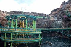 千叶,日本-, 2016年:神奇海岛吸引力在东京位于浦安的Disneysea,千叶,日本 免版税库存图片