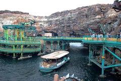 千叶,日本-, 2016年:神奇海岛吸引力在东京位于浦安的Disneysea,千叶,日本 库存图片