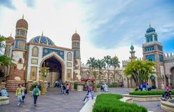 千叶,日本-, 2016年:阿拉伯海岸吸引力区域在东京位于浦安的Disneysea,千叶,日本 免版税库存图片