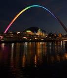 千年桥梁泰恩河畔纽卡斯尔英国 库存图片