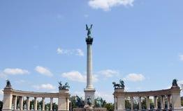千年纪念纪念碑,布达佩斯,匈牙利细节  免版税库存照片