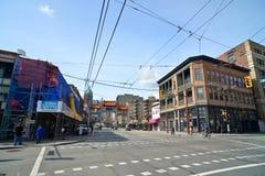 千年门在Vancouvers唐人街,加拿大 库存图片