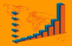 升序图表向量 免版税库存照片