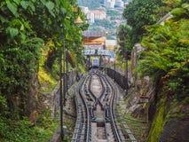 升旗山,槟榔岛海岛,马来西亚轨道  免版税库存照片