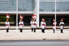 升旗仪式巴西利亚 图库摄影