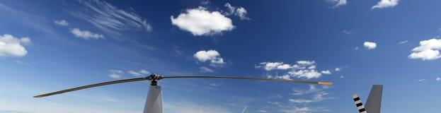 直升机动叶片 库存图片