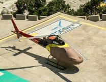 直升机在喜马拉雅山 库存图片
