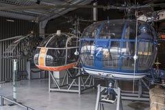 直升机在航天学和航空勒布尔博物馆  免版税库存照片