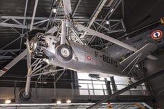 直升机在航天学和航空勒布尔热博物馆  免版税图库摄影