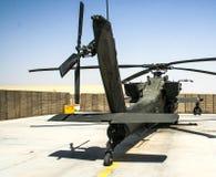 直升机在阿富汗 图库摄影