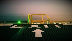 从直升机坪的逃走的路线 库存图片