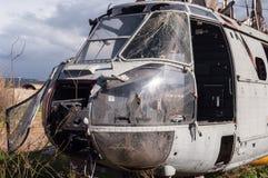 直升机失事 免版税库存图片