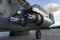 直升机导弹发射装置 免版税图库摄影