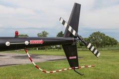 直升机尾桨汇编 库存照片
