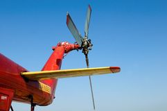 直升机尾桨 库存照片