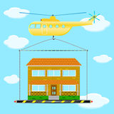 直升机房子1 免版税库存照片