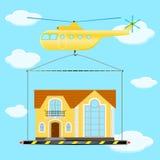 直升机房子 免版税图库摄影