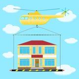直升机房子2 图库摄影