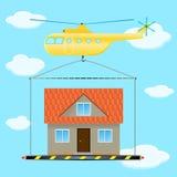 直升机房子3 免版税库存图片