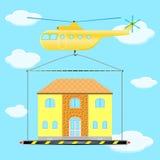 直升机房子 图库摄影